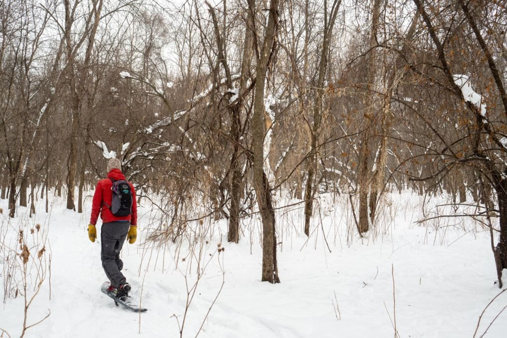Snowshoeing at Fort Snelling State Park