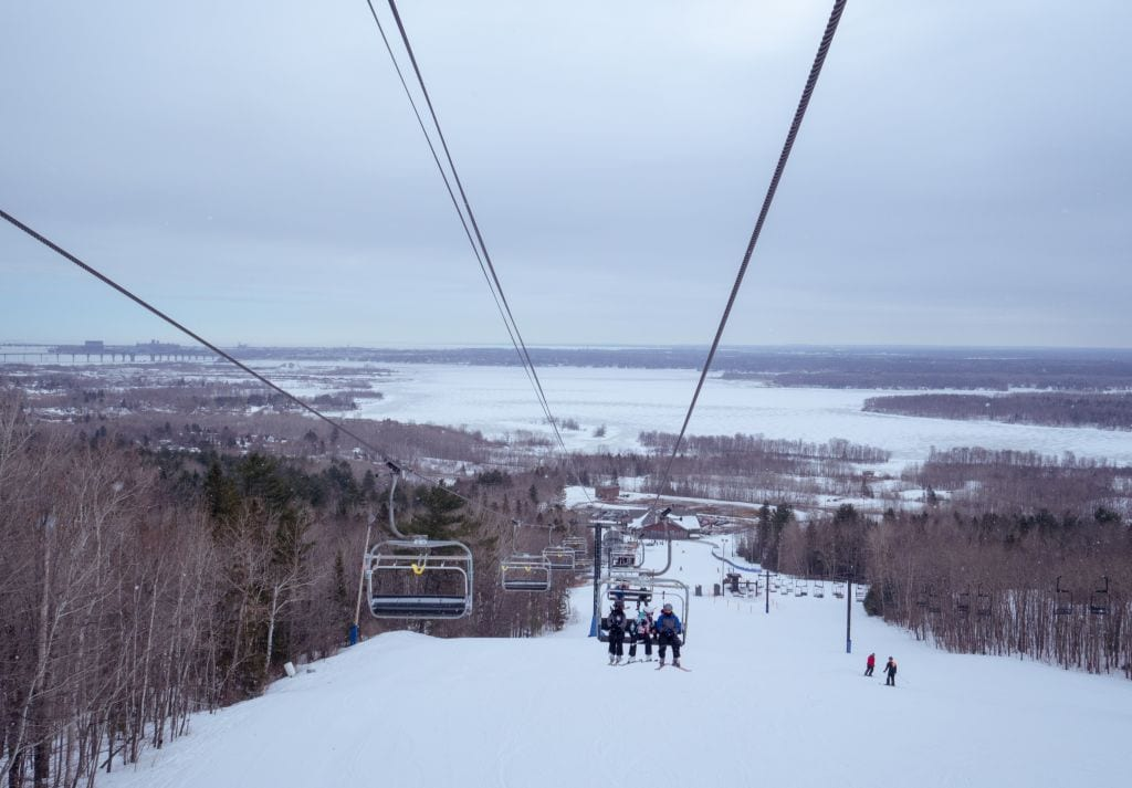 Skiing in Minnesota at Spirit Mountain