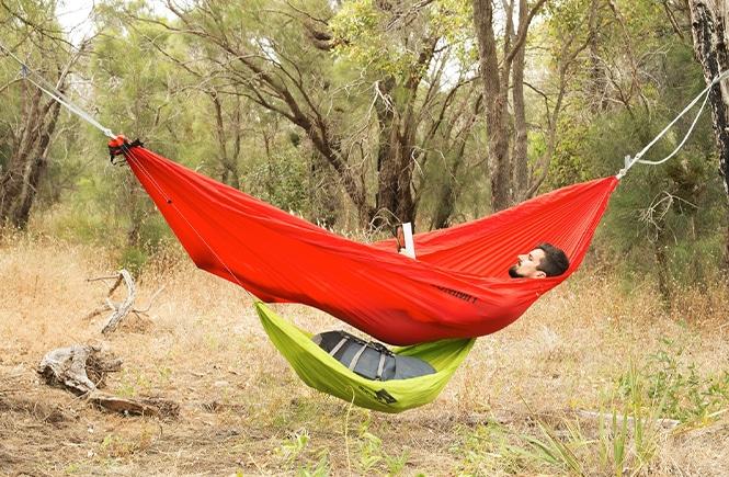Sea to Summit Hammock Gear Sling with a man in a hammock