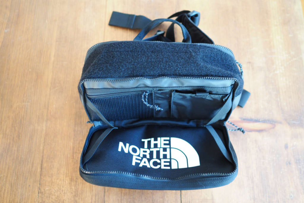 The North Face Explore BLT Fanny Pack front pocket open