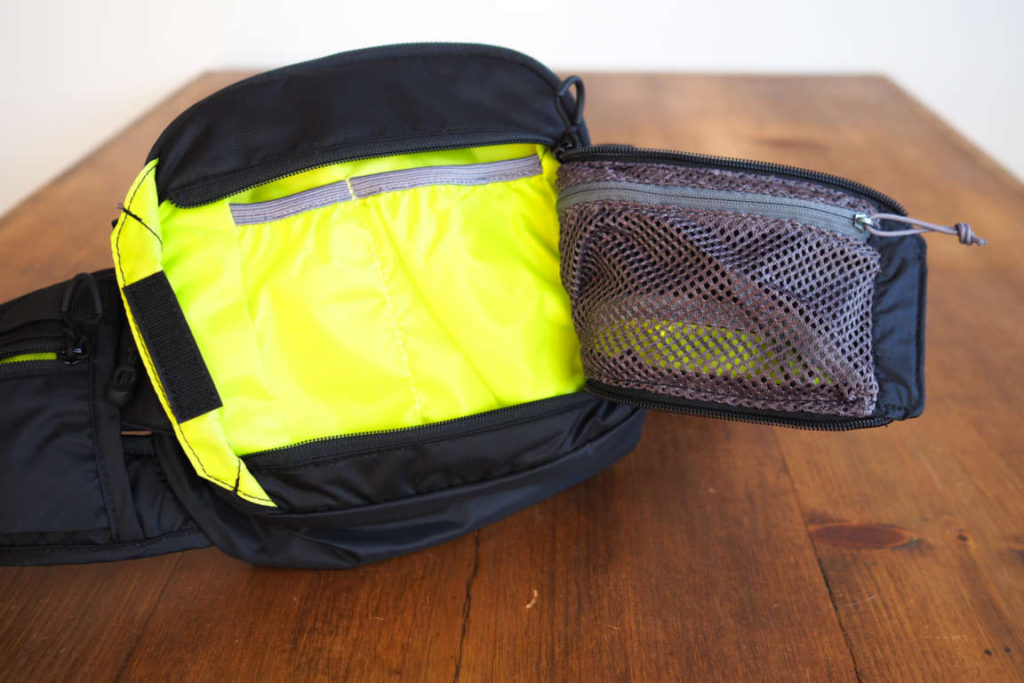 CamelBak Repack fanny pack with the front pocket open