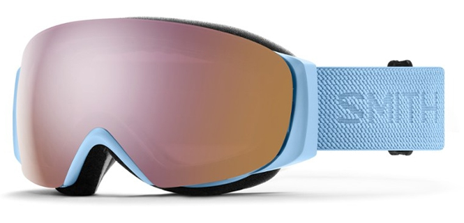 Smith I/O Mag Snow Goggles dual lenses with blue strap