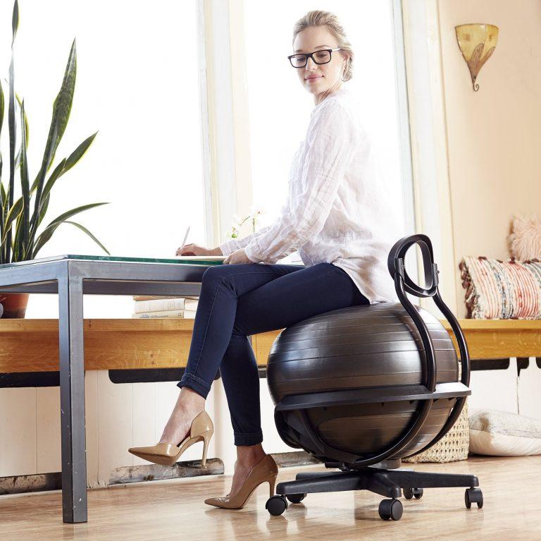 girl sitting on Balance Ball Chair